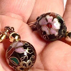 🌺Vintage Cloisonné Earrings